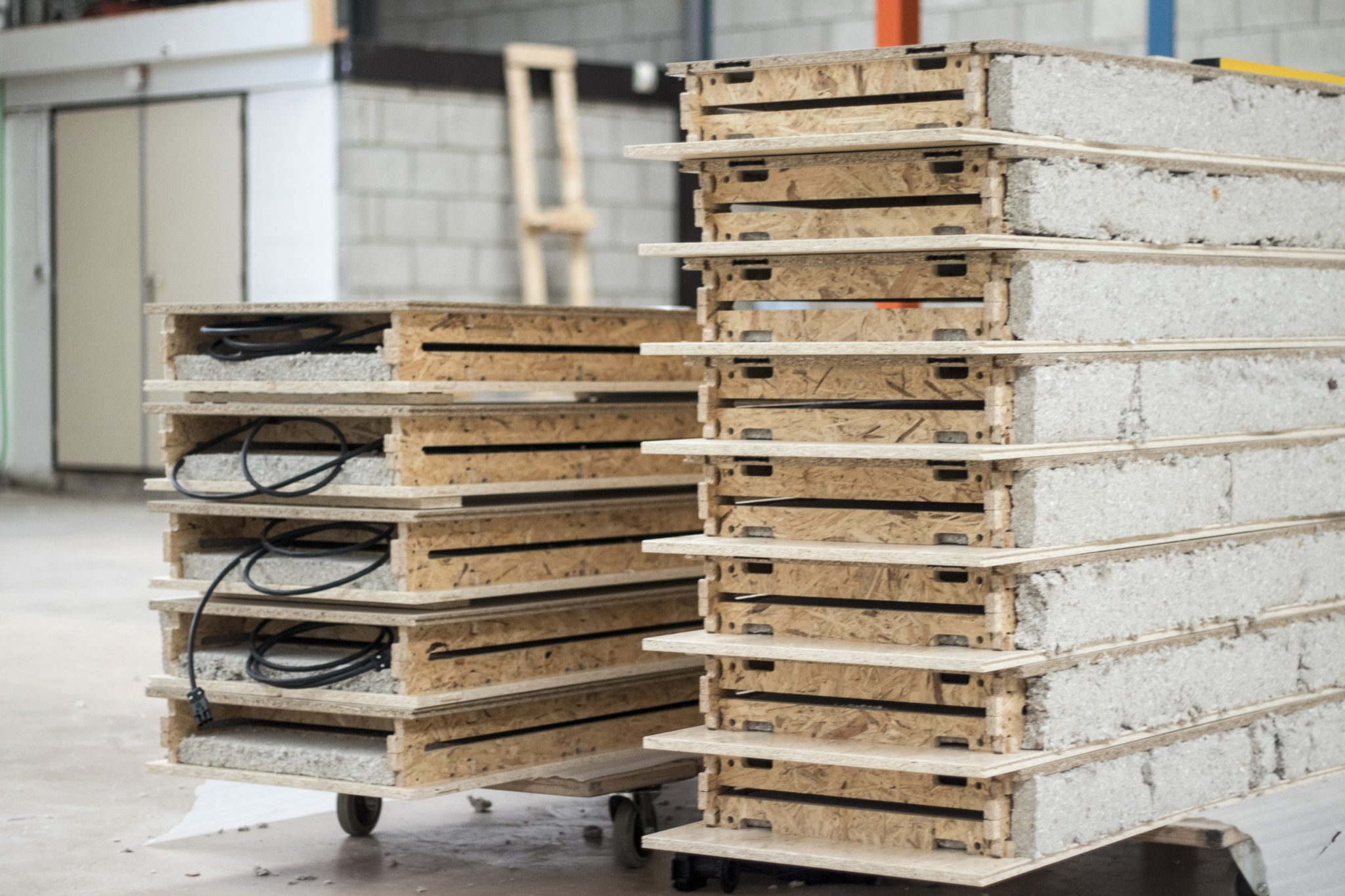 Our building blocks are made in series and stacked efficiently.